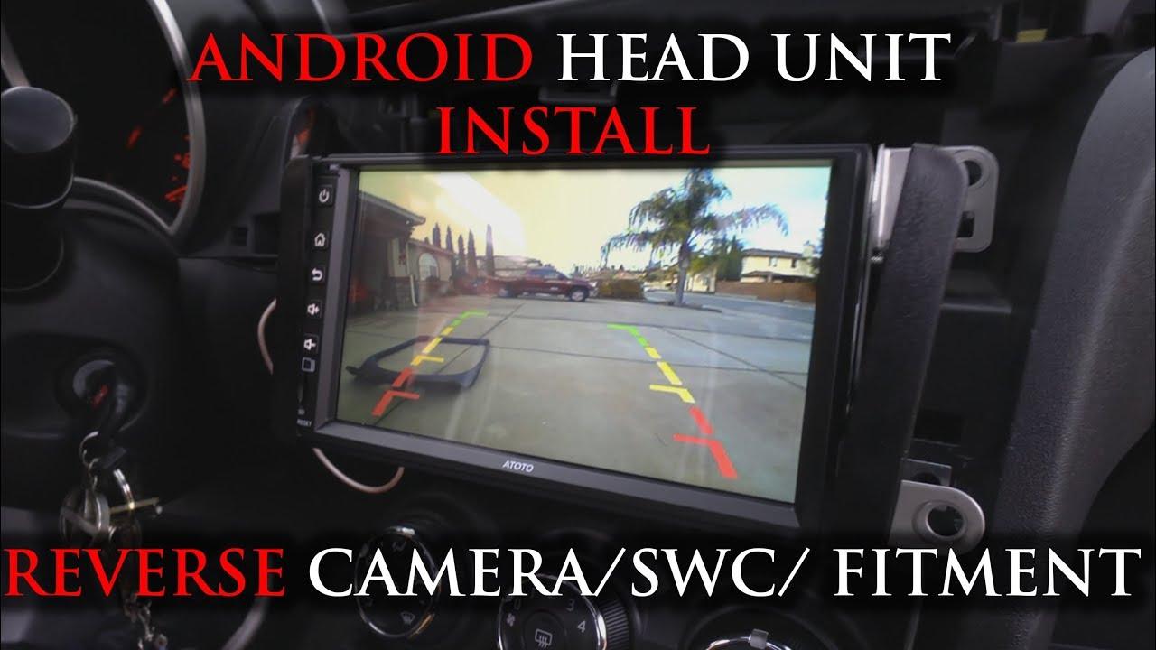 noob friendly android headunit installing a backup camera fitment atoto p2 p2 4k  [ 1280 x 720 Pixel ]