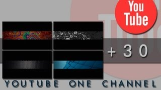 Youtube One Channel Layouts Pack 01 (30 files/.png/2560 x 1440)