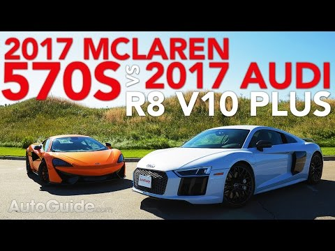 2017 Audi R8 V10 VS McLaren 570S Comparison