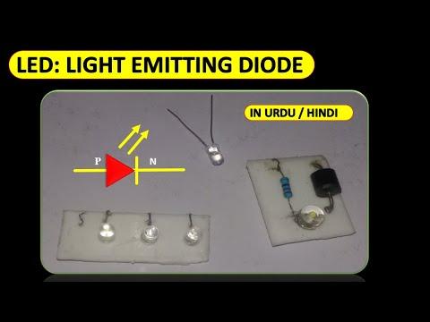 light emitting diode LED in urdu animated