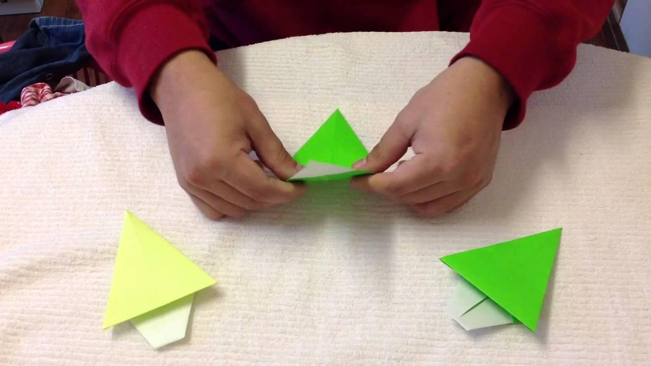 Cmo hacer un rbol de navidad  Figuras de origami  YouTube