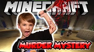 Cute Five Year Old Playing Minecraft Murder Mystery | Hypixel Minigame 1.11.2