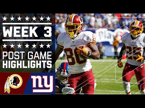 Redskins vs. Giants | NFL Week 3 Game Highlights