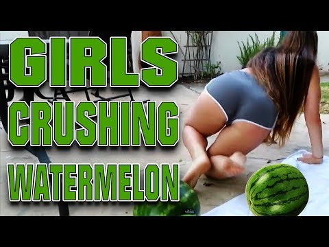 Girl crushing watermelon with her thighs | Best Compilation | 2017 #3