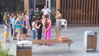 Фрагмент урока с детьми в Сиреневом саду. Лето 2016