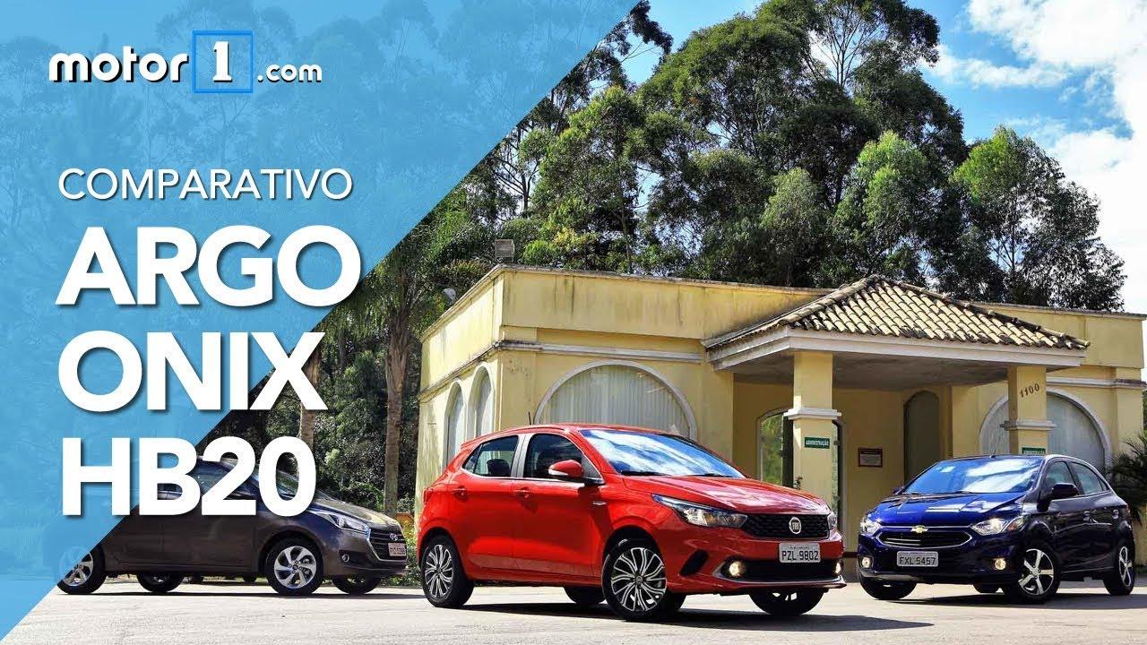 Resultado de imagem para Comparativo Fiat Argo encara Novo Onix e HB20 automáticos