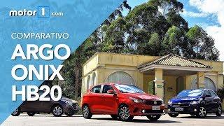 Comparativo: Argo encara Onix e HB20 automáticos   Motor1.com
