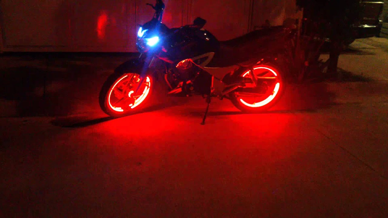 Tunear Bicicleta De Niño: Moto Con Luces LED En Los Rines 1ra Parte