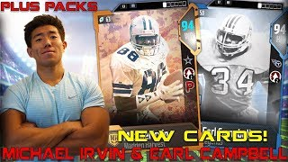 NEW MICHAEL IRVIN & EARL CAMPBELL ARE ANIMALS! Madden 18 Ultimate Team