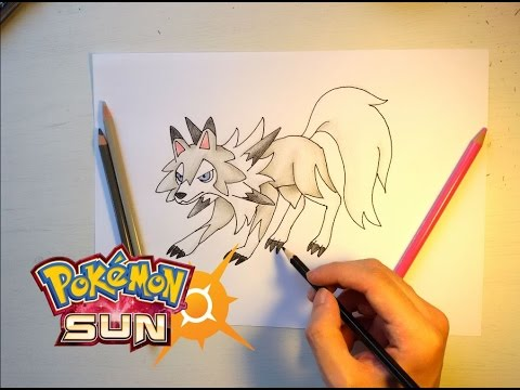 Wie Malt Man Wolwerock Tagform Pokemon Sonne Youtube