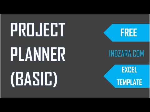 How to Plan Projects using free Project Planner Excel Template