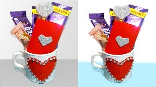 Very Easy Valentine gift  DIY from old tea cup - Tuber Tip