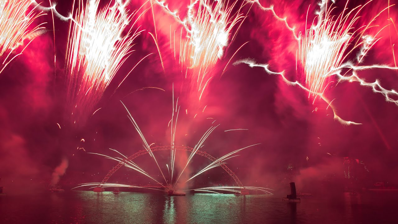Gear 360 Degree Munich Fireworks, Drone Footage