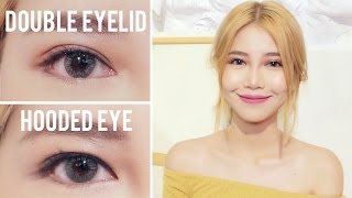 HOODED EYE TO DOUBLE EYELID l Glue vs Tape