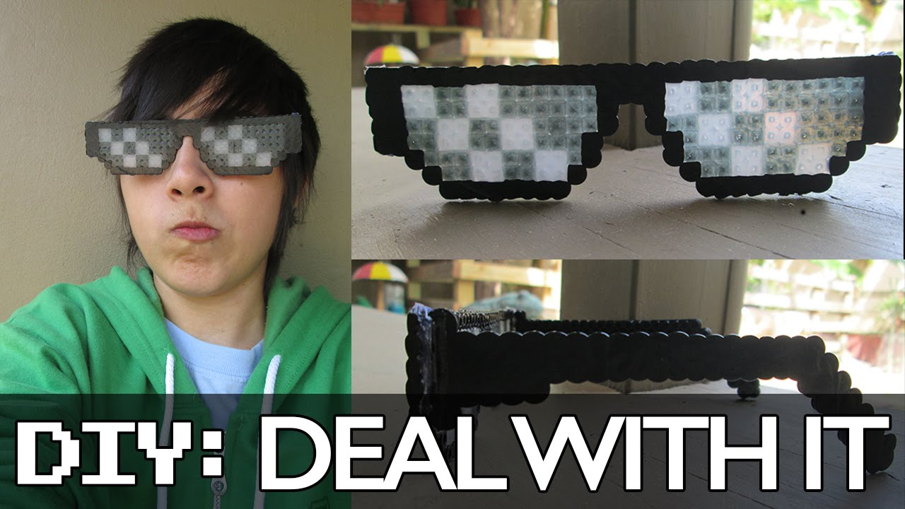 deal with it glasses thug life mlg shades