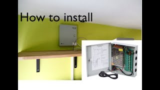 How To Install A Nordstrand CCTV Camera Power Supply Distribution Box