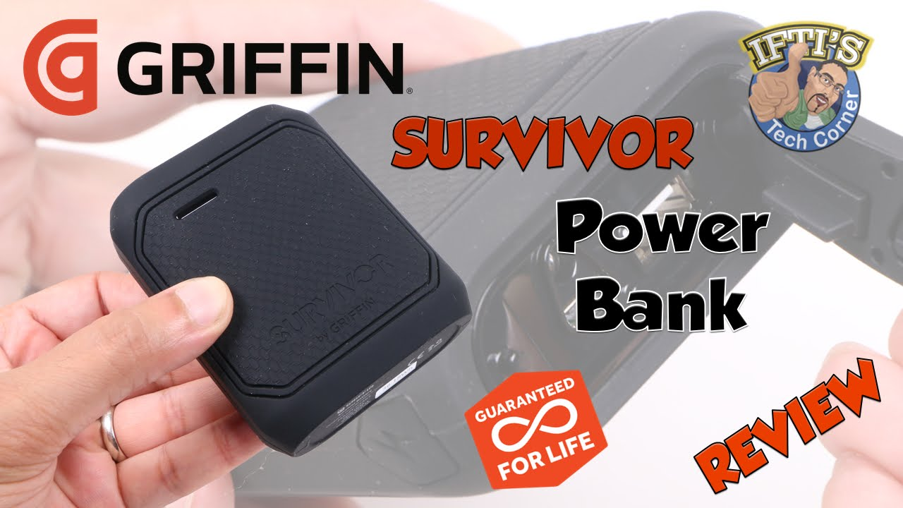 new arrival 98a12 75bb3 Griffin Survivor Power Bank - Seriously Rugged Portable Charger! : REVIEW