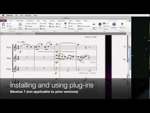 Installing And Using Plug-ins In Sibelius 7