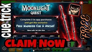 moonlight quest | free madness cue claim now - 8ball pool- miniclip (no hack/cheat)