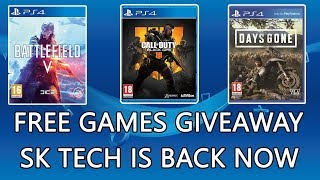 Time to Start New Channel / Free PS3 and PS4 Games Giveaway