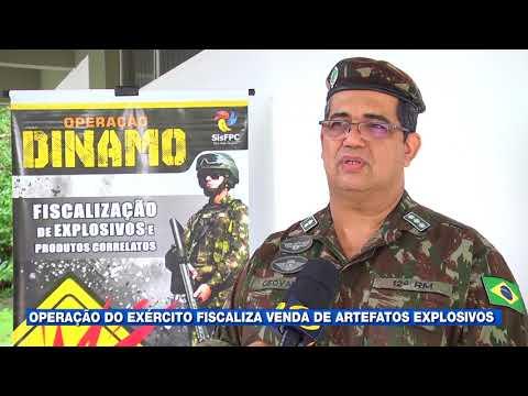 Operação do Exército fiscaliza venda de artefatos explosivos