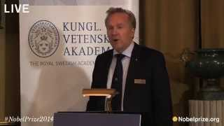 Announcement of the Sveriges Riksbank Prize in Economic Sciences in Memory of Alfred Nobel