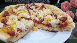 Pizza Teflon Empuk | Pizza on pan Recipe