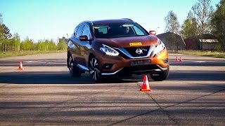 Nissan Murano: Лосиный тест. Крены