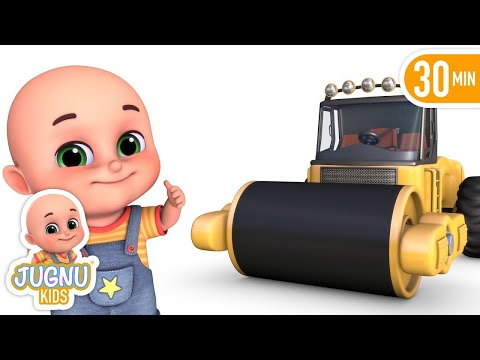 Surprise Eggs - Construction Truck Road Roller Toys for Kids - Surprise Eggs from Jugnu Kids