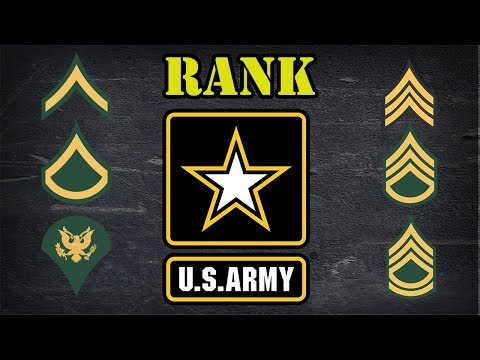 Explaining US Army enlisted rank