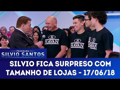 Silvio Santos conhece o dono das lojas Havan | Programa Silvio Santos (17/06/18)