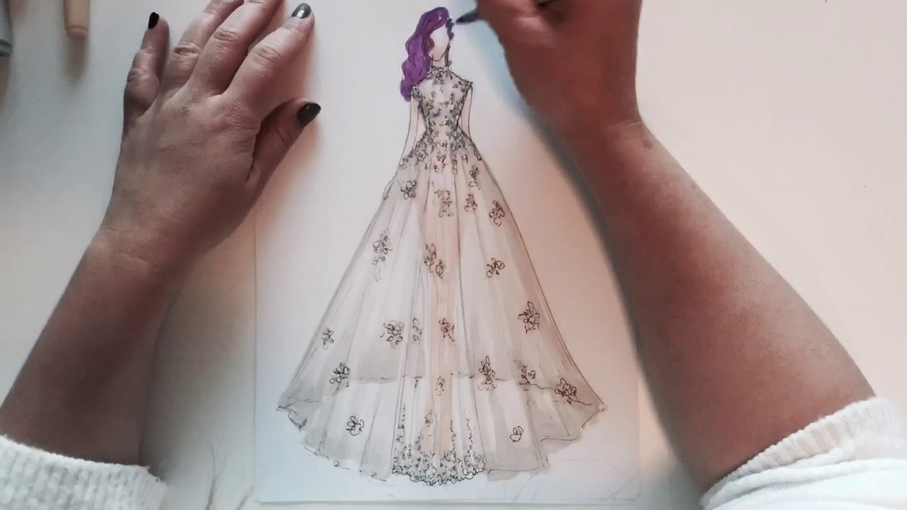 Wedding Dress Sketch 2017 Collection Youtube