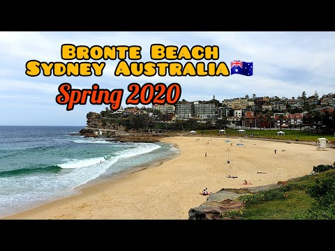 BRONTE BEACH SYDNEY DURING SPRING 2020/ RELAXING WALK TOUR/ LADY TRAVELLER