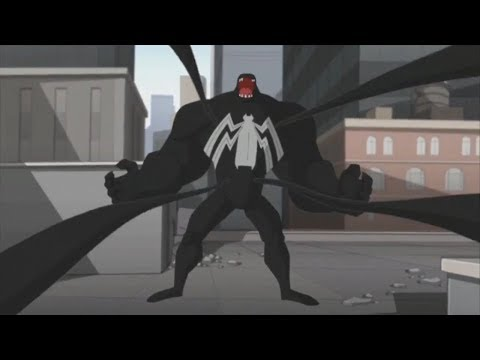 Spectacular Spider-Man (2008) Spider-Man vs Venom parade fight (1/3)