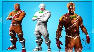 The *NEW* Gingerbread Man Skin Styles In Fortnite!