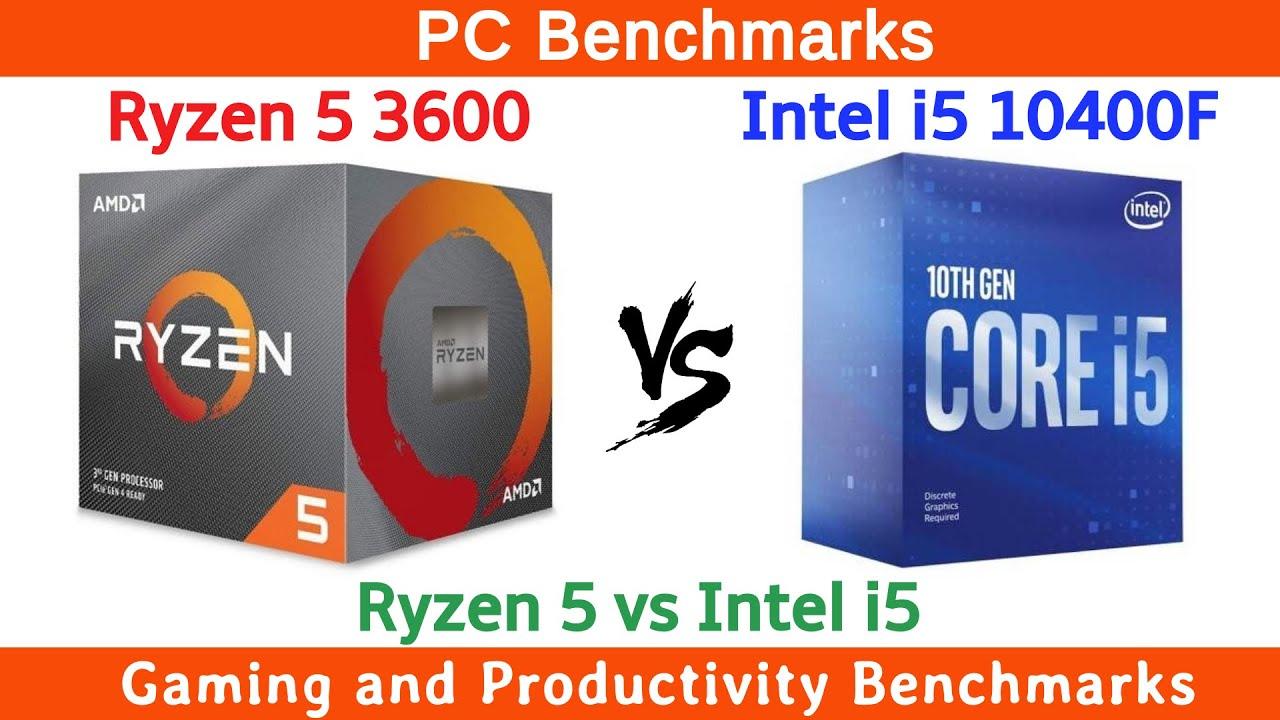Ryzen 5 3600 vs Intel i5 10400F Benchmarks