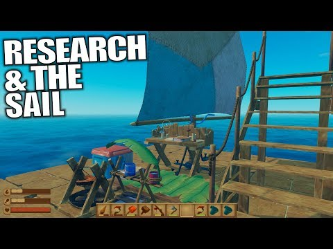 RESEARCH & THE SAIL | Raft | Let's Play Gameplay | S02E02