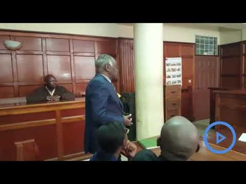 Lawyer Harun Ndubi with defying a police officer