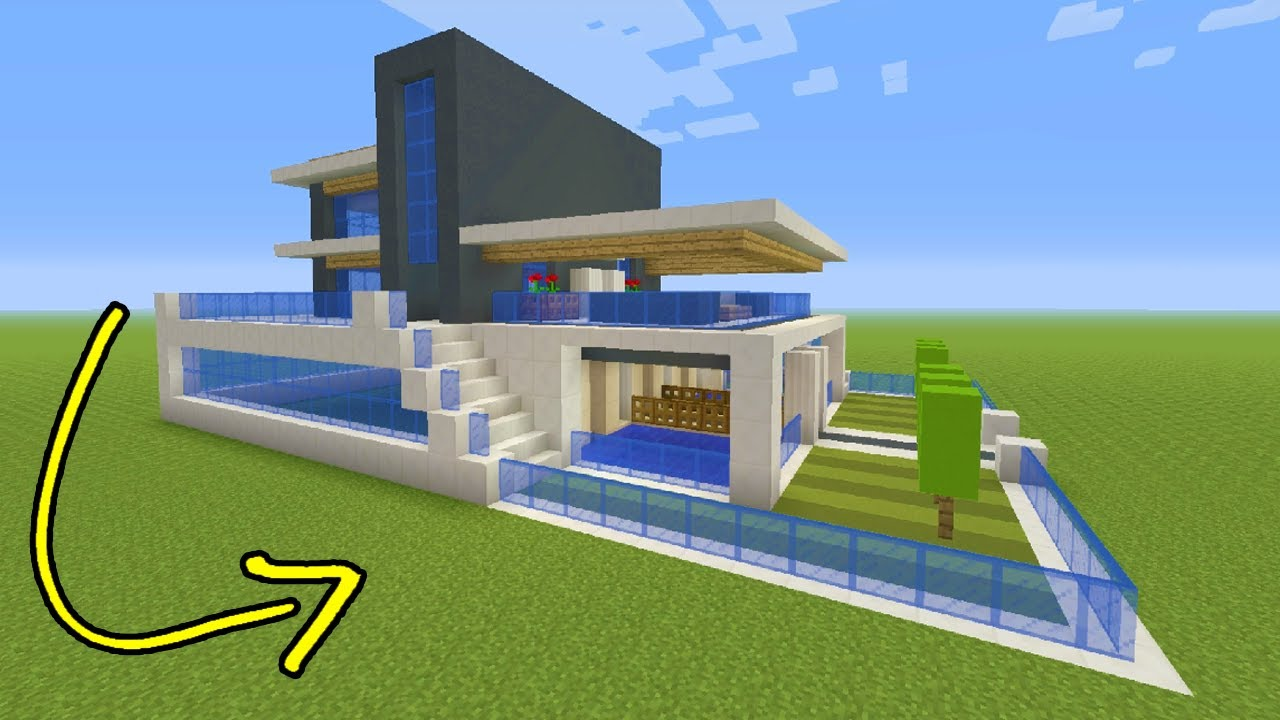 Inspiration 20 minecraft modern homes inspiration design for Big modern house tutorial
