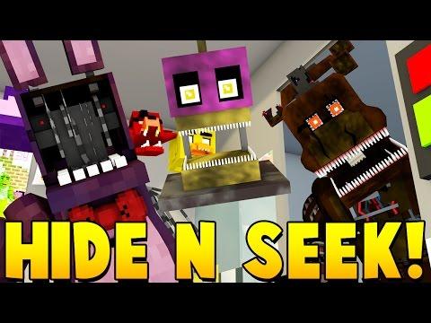 Minecraft - FIVE NIGHT'S AT FREDDY'S HIDE N' SEEK!