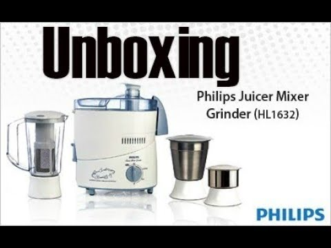 Philips HL1632 Juicer mixer & grinder unboxing and overview (Hindi)