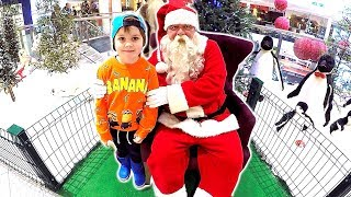 Santa Claus Visit The First time meeting the real Santa Claus Spirit of Christmas Song for Kids