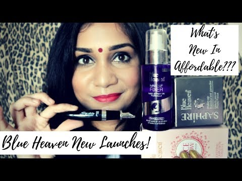 BLUE HEAVEN New Launches Haul | Rs. 85 to Rs. 270 | What's New In Affordable? | Nidhi Katiyar