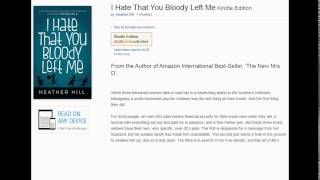 i hate that you bloody left me heather hill books review