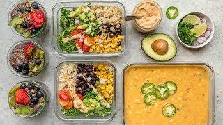 Easy Vegan Meal Prep for the School or Work Week