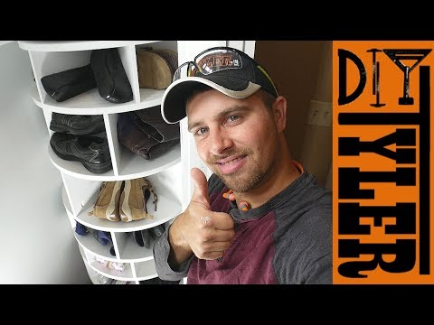 Build a MASSIVE Rotating Shoe Rack | Store All Your Shoes In A Small Closet