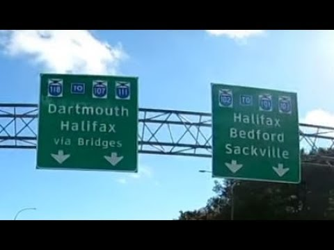 Driving from Halifax airport to DARTMOUTH