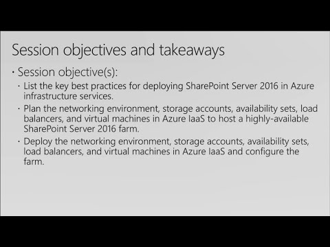 Designing and deploying a high-availability, cross-premises SharePoint 2016 farm in Azure - BRK2168
