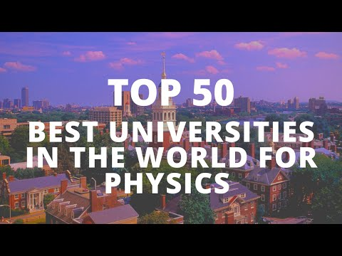 Top 50 | Best Universities In The World For Physics 2019