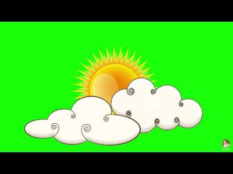 sun green screen | Animated Cloud Sun Green Screen